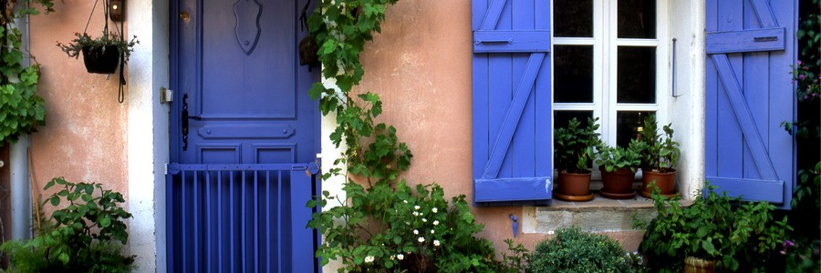 bigstock-Blue-Door-in-Provence--France-759359